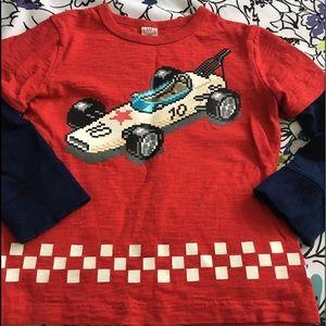 5 for $25 Gap Toddler Race Car Long Sleeve Tee 3T